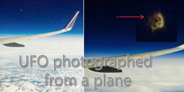 ufo photographed from a plane