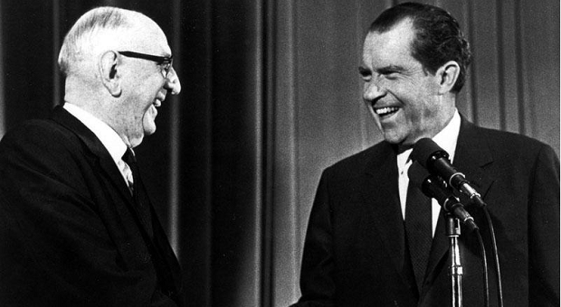 Senator Richard Russell and US president Richard Nixon