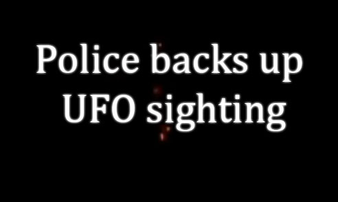 police UFO sightings