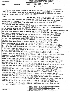 Tehran UFO Incident document