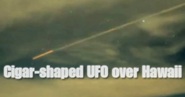 Cigar shaped UFO Hawaii