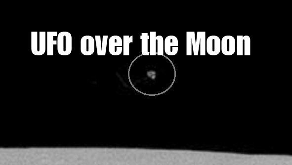 UFO over the Moon