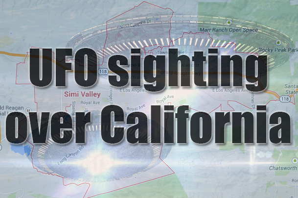 ufo sighting over california