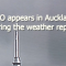 Unknown object appears in Auckland on the news during the weather report – October 2014