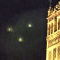 Triangle formation over the cathedral of Sevilla, Spain 9-Apr-2015